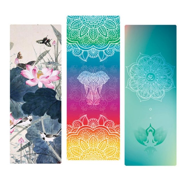 Eco Friendly Patterned Yoga Mat